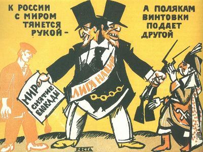 League of Nations (Rosta Windo), 1920-Ivan Andreevich Malyutin-Giclee Print