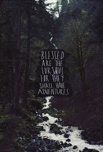 Blessed Are The Curious For They Shall Have Adventures by Leah Flores