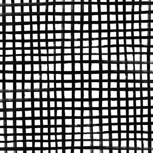 Handpainted Grid by Leah Flores