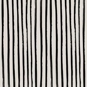 Vertical Black And White Watercolor Stripes by Leah Flores