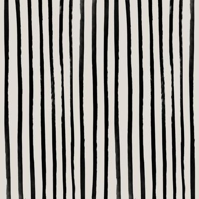 Vertical Black And White Watercolor Stripes