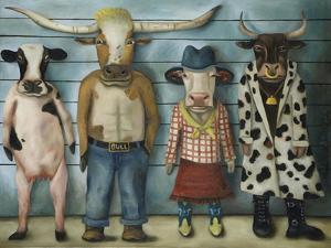 Cattle Line Up by Leah Saulnier