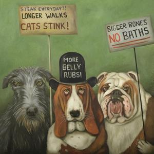 Dogs on Strike by Leah Saulnier