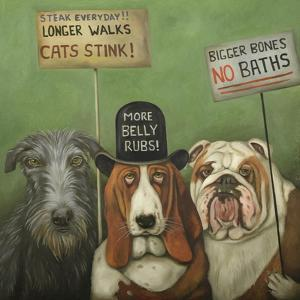 Dogs on Strike by Leah Saulnier