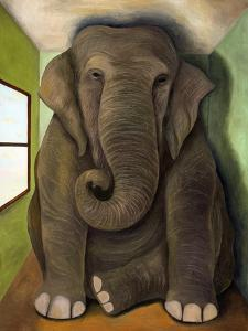 Elephant in a Room Cracks by Leah Saulnier