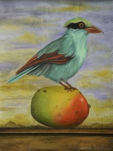 Magpie On A Mango by Leah Saulnier