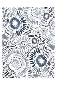 Blue Floral Fun by Leah Straatsma