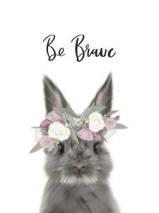 Floral Bunny Be Brave by Leah Straatsma