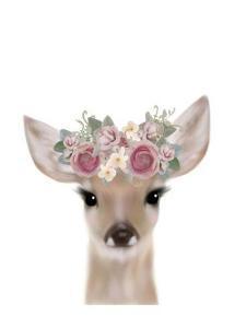 Floral Deer by Leah Straatsma