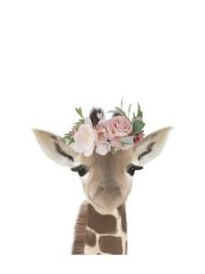 Floral Giraffe by Leah Straatsma