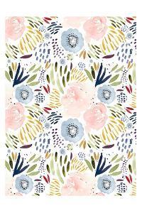 Floral Pink Blue by Leah Straatsma