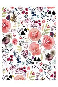 Floral Red and Blue by Leah Straatsma