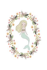 Mermaid And Florals by Leah Straatsma