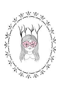 Woodland Girl Art by Leah Straatsma