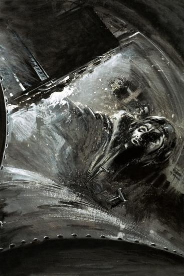 Leaking Fuel Saturates an Aircraft--Giclee Print