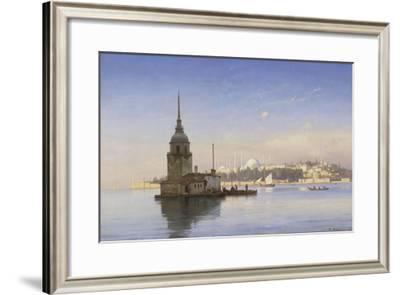 Leander's Tower with Constantinople Beyond-Carl Neumann-Framed Giclee Print