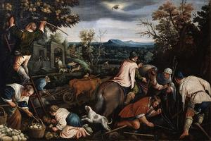 October' (From the Series 'The Seasons), Late 16th or Early 17th Century by Leandro Bassano