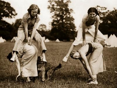 Leap-Frog in the Park--Photographic Print