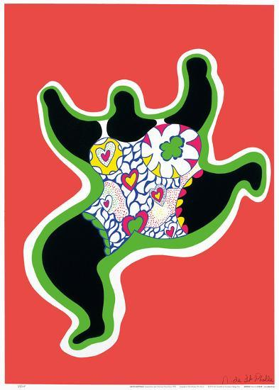 Leaping Nana, part of the series Nana Power, 1970-Niki De Saint Phalle-Art Print