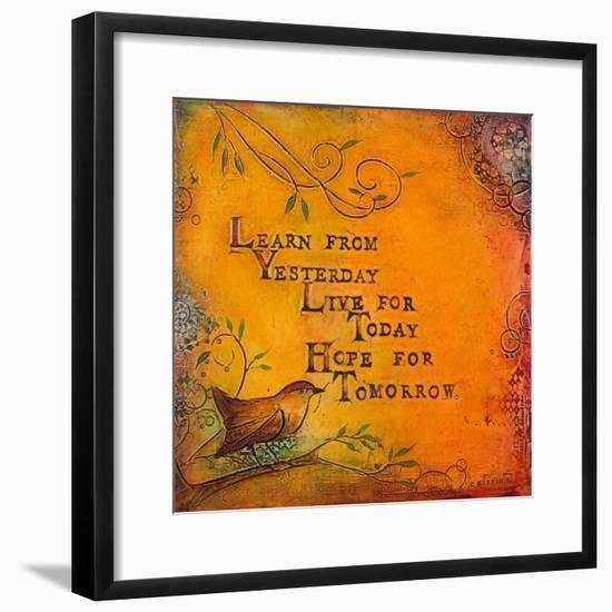 Learn Live Hope I-Carolyn Kinnison-Framed Art Print