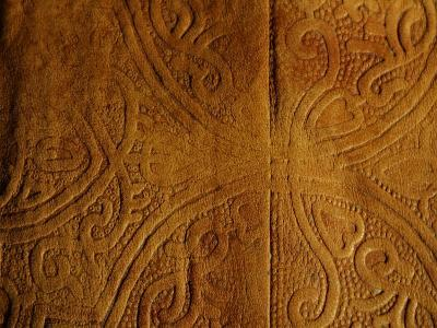 Leather Pattern with Decorative Etching--Photographic Print