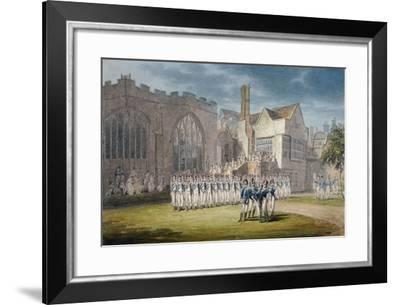 Leathersellers' Hall, and the Church of St Helen, Bishopsgate, City of London, 1792-Edward Dayes-Framed Giclee Print