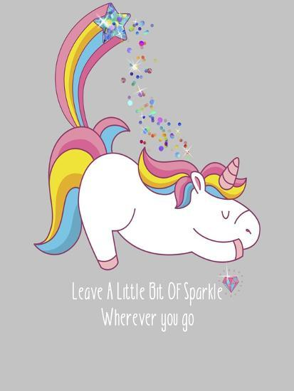 Leave A Little Bit Of Sparkle Tee-Tina Lavoie-Giclee Print