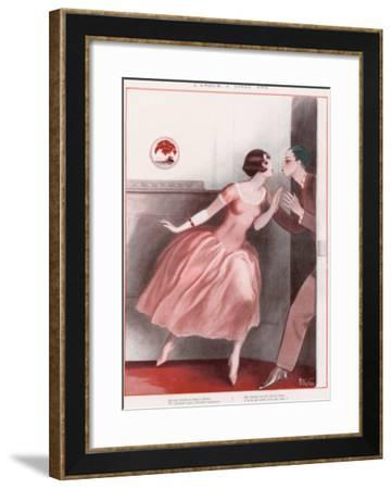 Leave with Kiss--Framed Giclee Print