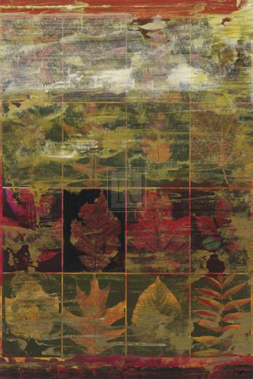 Leaves in a Row III-John Douglas-Art Print