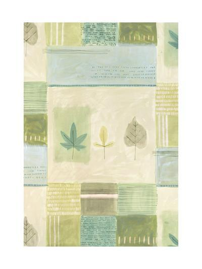 Leaves on Quilted Background--Art Print