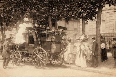 Leaving for the Races, 1890--Photographic Print