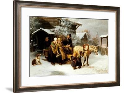 Leaving Home (Dalecarlian Scene), 1870-Bengt Nordenberg-Framed Giclee Print