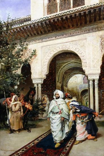 Leaving the Alhambra, 1887-Harry Humphrey Moore-Giclee Print