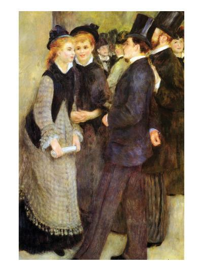 Leaving the Conservatoire-Pierre-Auguste Renoir-Art Print