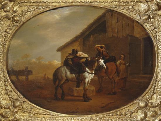 Leaving the Inn-Pieter Van Laer-Giclee Print