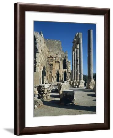 Lebanon, Baalbek, Monumental Atrium and Colonnade of Temple of Jupiter-Baal--Framed Giclee Print