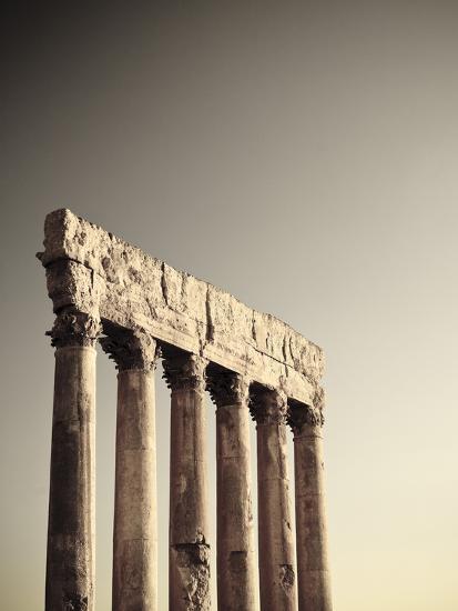 Lebanon, Baalbek, Temple of Jupiter-Michele Falzone-Photographic Print