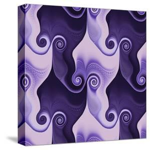 Abstract Spiral Purple - Square by Lebens Art