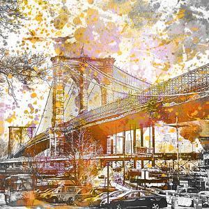 Brooklyn Bridge - Square by Lebens Art