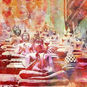 Buddhas - Square by Lebens Art