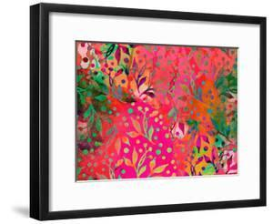 Color Watercolor Leaf Pattern by Lebens Art