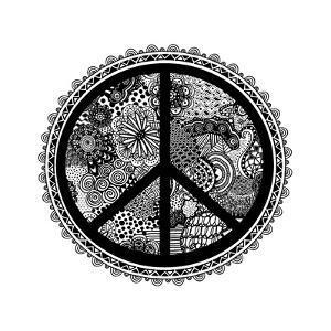 Doodle Peace Symbol 2 by Lebens Art