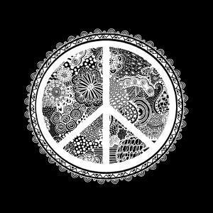 Doodle Peace Symbol by Lebens Art