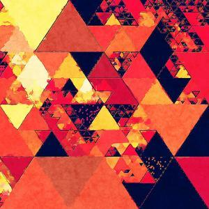 Fire Red Pattern - Square by Lebens Art