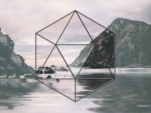 Landscape Surreal Geometry 3 by Lebens Art