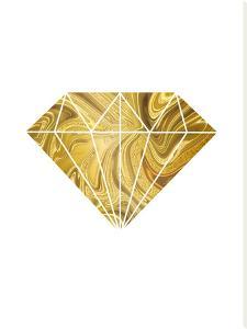 Liquid Gold Diamond by Lebens Art