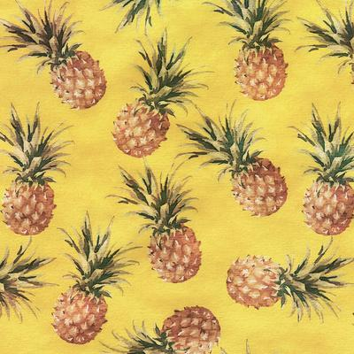 Pineapple Yellow Pattern - Square
