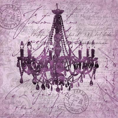Purple Baroque Chandelier