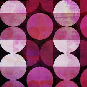 Red Circle Pattern - Square by Lebens Art
