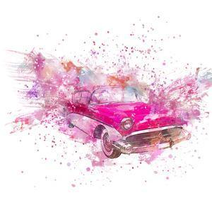 Retro Car Color Splash - Square by Lebens Art